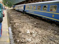 Train Derailed due to a Mud Slide