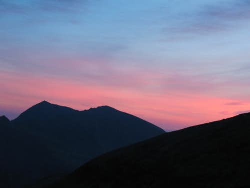 Sunset over Snowdon
