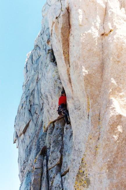 steep climbing on Lone Pine...