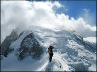 Mont Blanc du Tacul seen from the Cosmiques Ridge