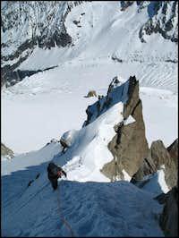 The 'Demi Lune' on the NE-ridge