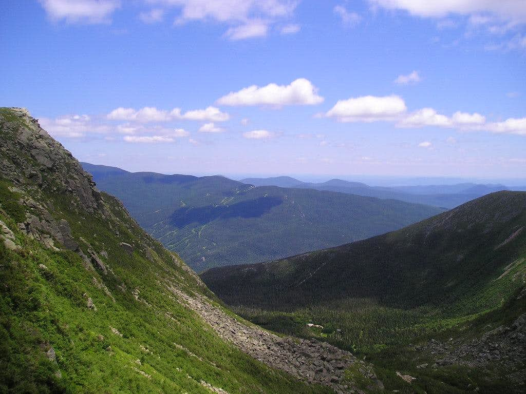 View from the headwall