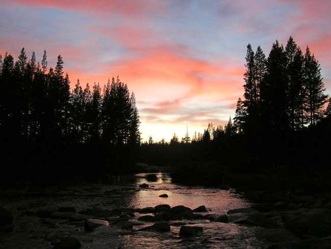 Sunset on the Tuolomne River...