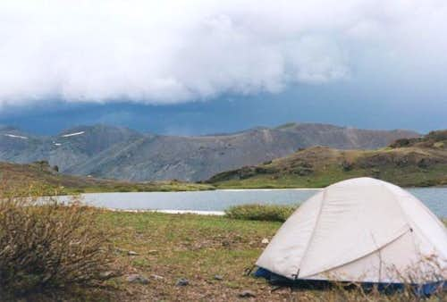 Stormy camp at Lost Lake