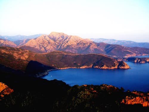 Alpenglow from Corsica