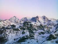 Bernina Group at sunrise