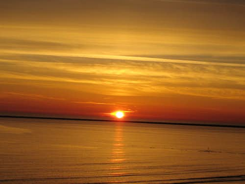 Sunset at the North Sea Island Borkum