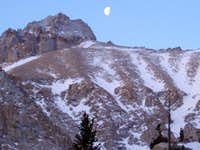 Moon over LeConte