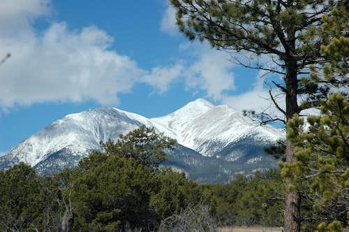 Mt Shavano - too early in the season