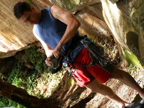 Climbing in Serra de Sao Pedro, Brazil