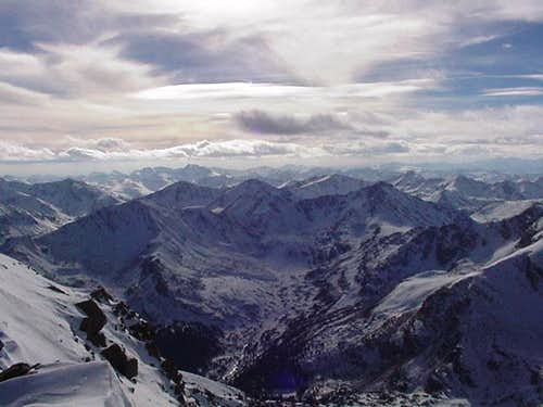 View from the summit of Mt...