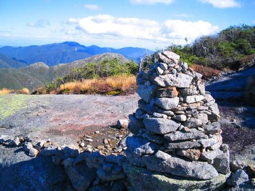 Rock cairn near the summit of...