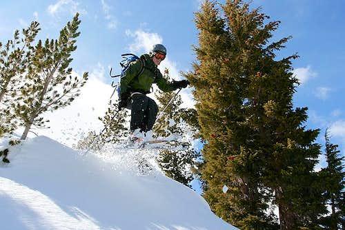 skiing - red lake peak