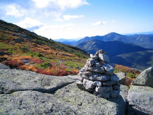 Rock cairn and alpine plants...