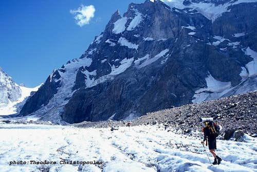 Shkhelda glacier.