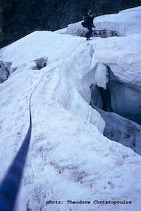 Ushbinski icefall.