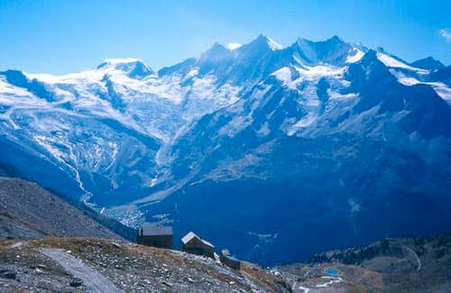 The Weissmies hut at 2726m is...
