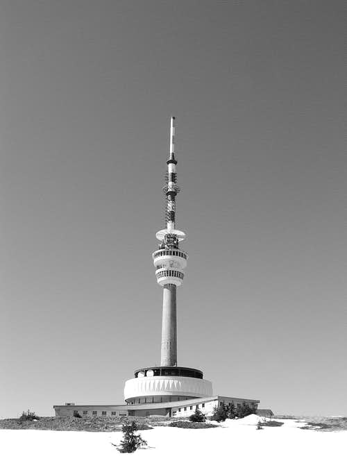 TV tower on the top of Praděd