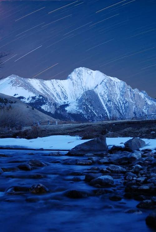 Star trails over Mt. Corruption