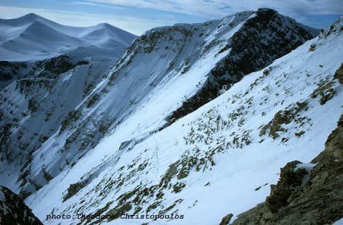 Kakoskala Ridge in winter.
