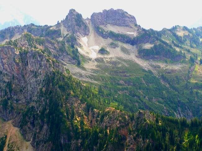 Twin Peaks from Mt. Forgotten.
