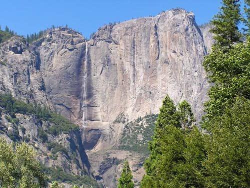 Yosemite Falls late in the...