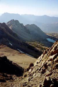 View down West Ridge route.