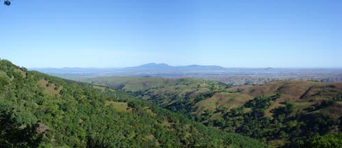 Mt. Diablo from Ohlone Wilderness