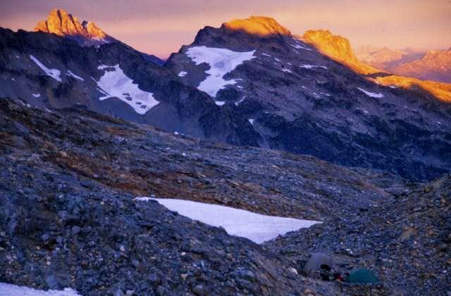 Mount Goode at sunset as...