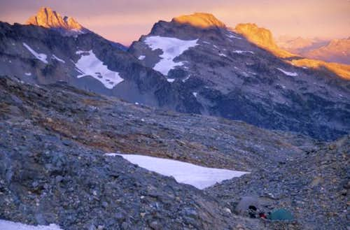 Mount Goode at sunset as...