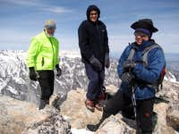 (from left) Alden, Brett and Ron on the summit