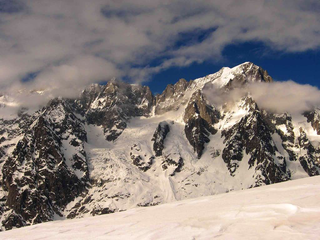 Rochefort ridge and Grandes Jorasses