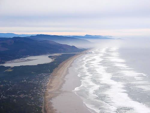 Oregon Coast from the summit of Neah Kah Nie Mountain