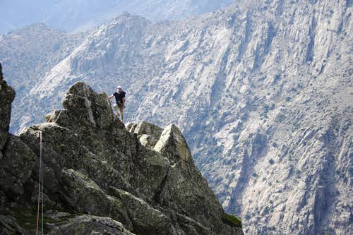 In the Ridge. Cashan route. Peña Chilla. Spain