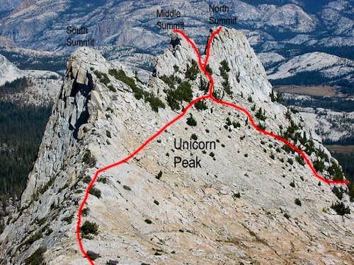 Unicorn Peak zoom from the...