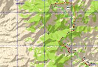GPS Trace for McCullough Mountain from Pine Spring