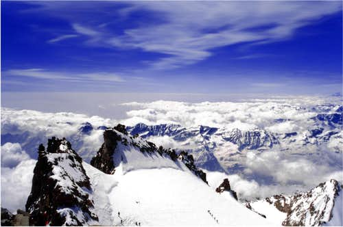 Panoramic view from Gran Paradiso