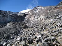 Lower section of Jampa Glacier Route