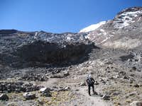 Jampa Glacier route from Mid Camp