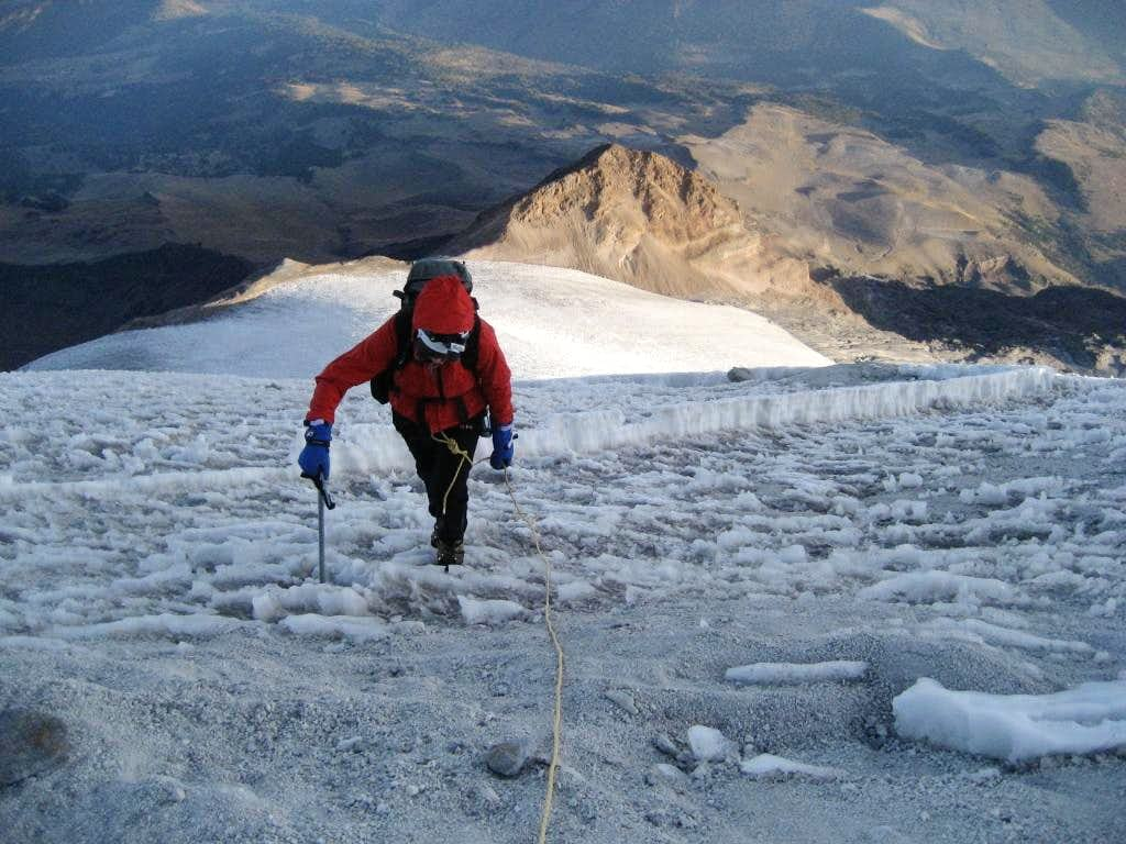 Toping out on the Jampa Glacier
