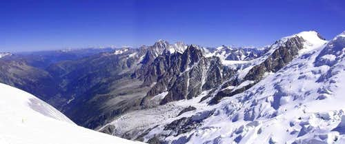 Scenery from Aiguille du Gouter, Mont Blanc