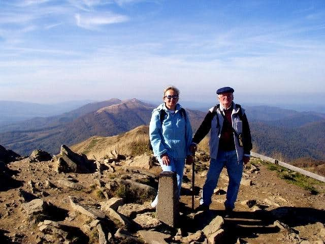 On the summit at 1297 meters