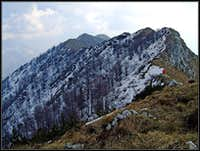 Briniza/Brinica summit ridge