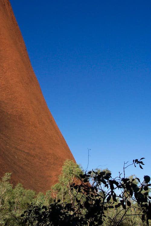 Uluru steepness