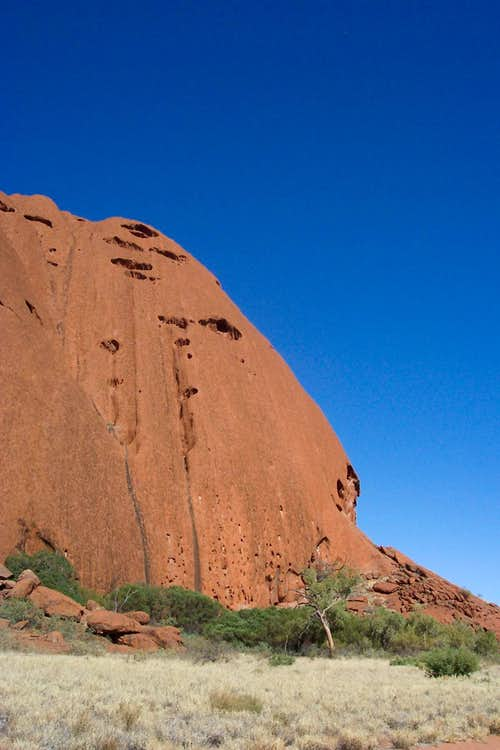 Uluru, the cavernous