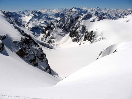 The glacier of Mont Brule\'