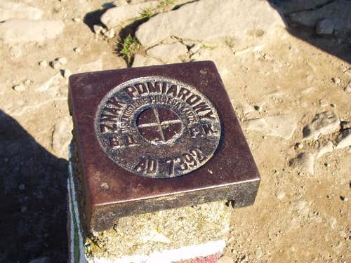Survey Marker on top