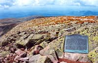 Plaque on the summit of Mt...