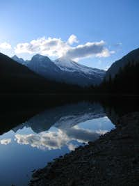 Heavens Peak reflected in Avalanche Lake