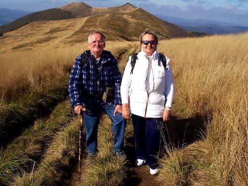 On route through Meadow's ridge